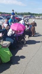 Grup de vizitatori Amish