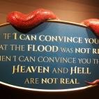 """O emblema foarte importanta: """"Daca te pot convinge ca potopul nu a fost adevarat, te pot convinge ca iadul si raiul nu sunt adevarate"""""""